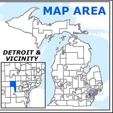 MIchigan map location MI HD20